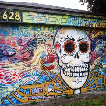 Tap the alley project gallery 17 photos arts for Dia de los muertos mural