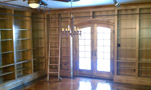 Built In Bookcases W Rolling Ladder Yelp