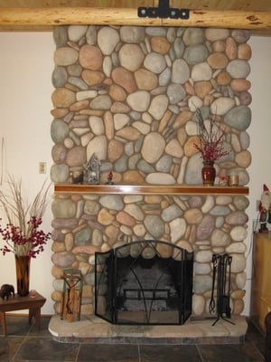 River rock fireplace yelp for Stonecraft fireplaces
