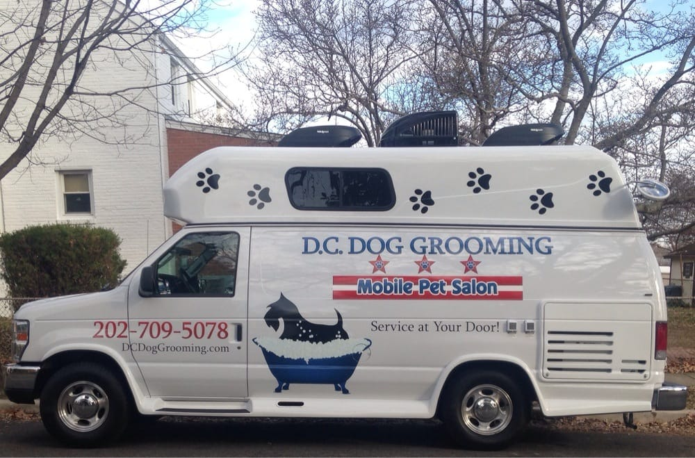 Dc dog grooming mobile pet salon pet groomers for Dog grooming salons near me