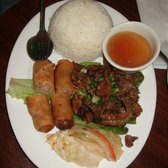 Green Bamboo - 41. Grilled Pork and Rice Plate with Imperial Rolls ($7.50) - San Francisco, CA, Vereinigte Staaten