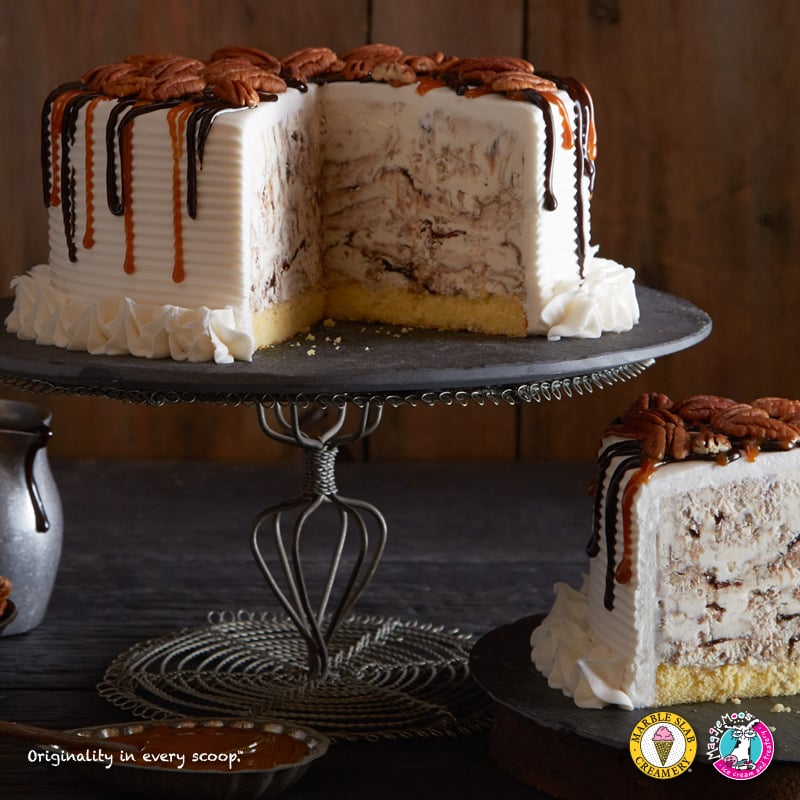 Praline Ice Cream Cake Turtle Cake Praline Ice