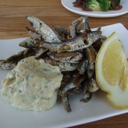 Deep fried whitebait