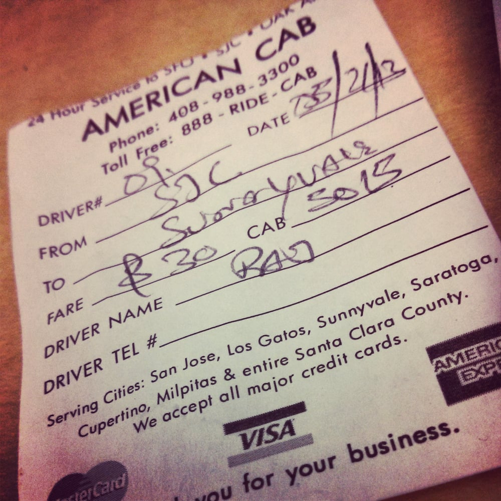 american cabs receipt