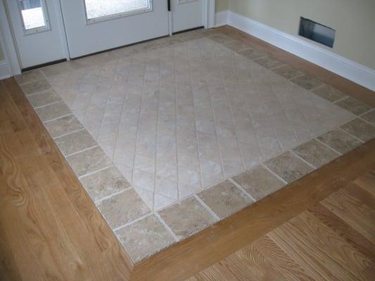 Custom Tile Inlay In Entrance Yelp
