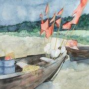 Ruhetag - Aquarell von Frank Koebsch,…