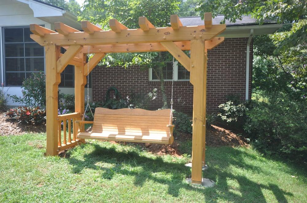 how to build a timber garden arbor