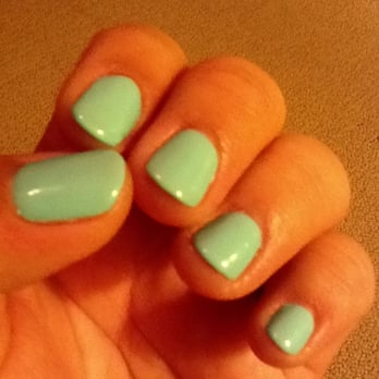 Blossom Nail Spa - San Jose, CA, United States. Mint nails. Shellac
