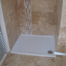 bedroom ensuite just tiled