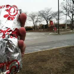 Chick-fil-A - Schaumburg, IL, États-Unis. Look at the size of this breakfast burrito. I couldn't eat lunch after this breakfast! The picante sauce is to die for...