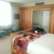 Nicest room I've had here. Although I'll…