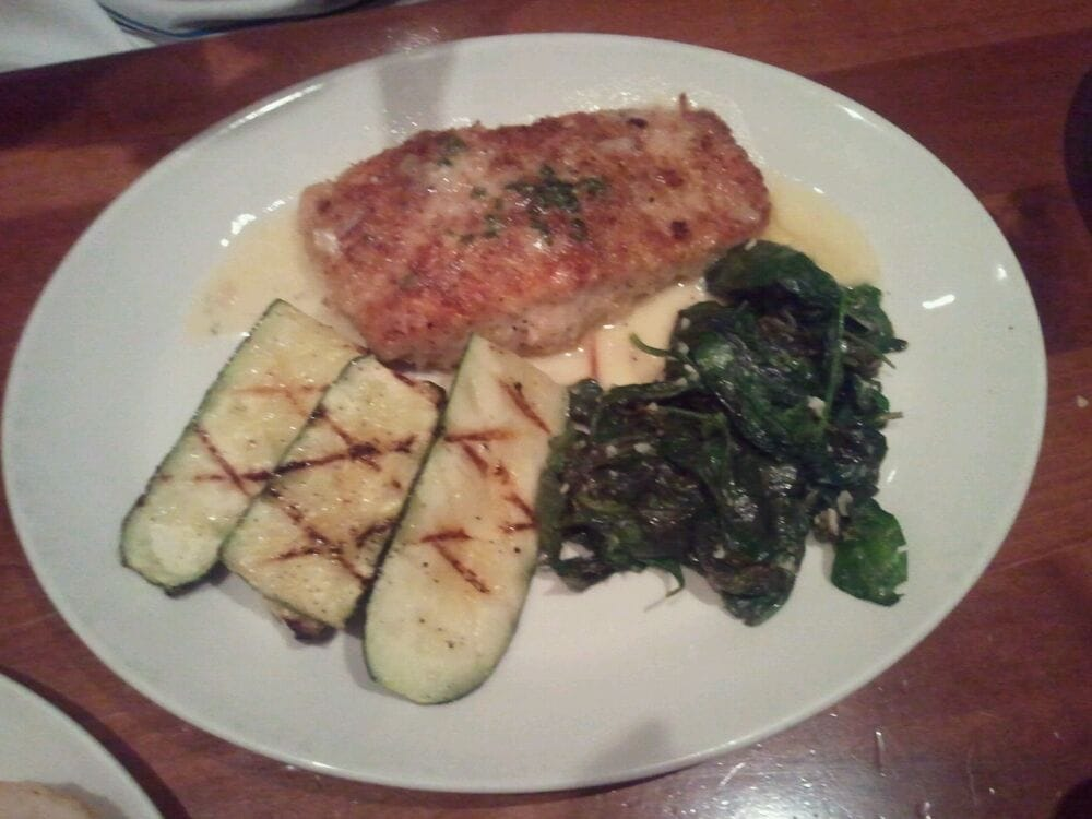 Hazelnut Crusted Wild Salmon with Sauteed Fresh Spinach and Grilled ...