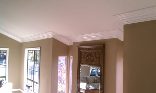 Adele Crown Molding - Crown molding on a vaulted ceiling. - Orange, CA ...