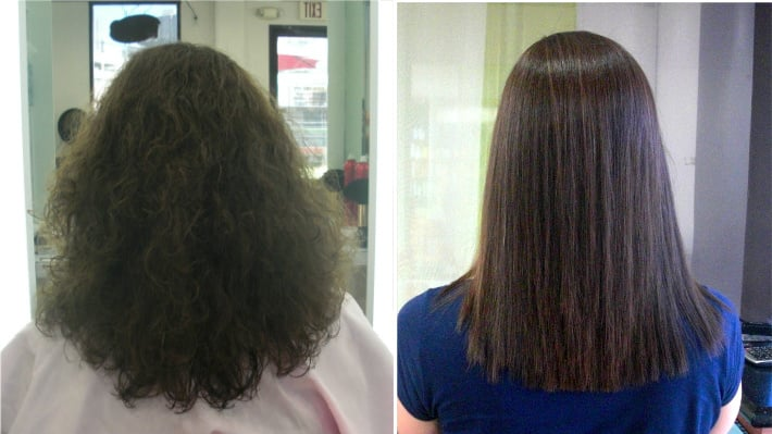 Straight Perm Before And After Rachael Edwards