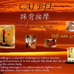 CAI BEI. Chinese Walk on Back Massage.