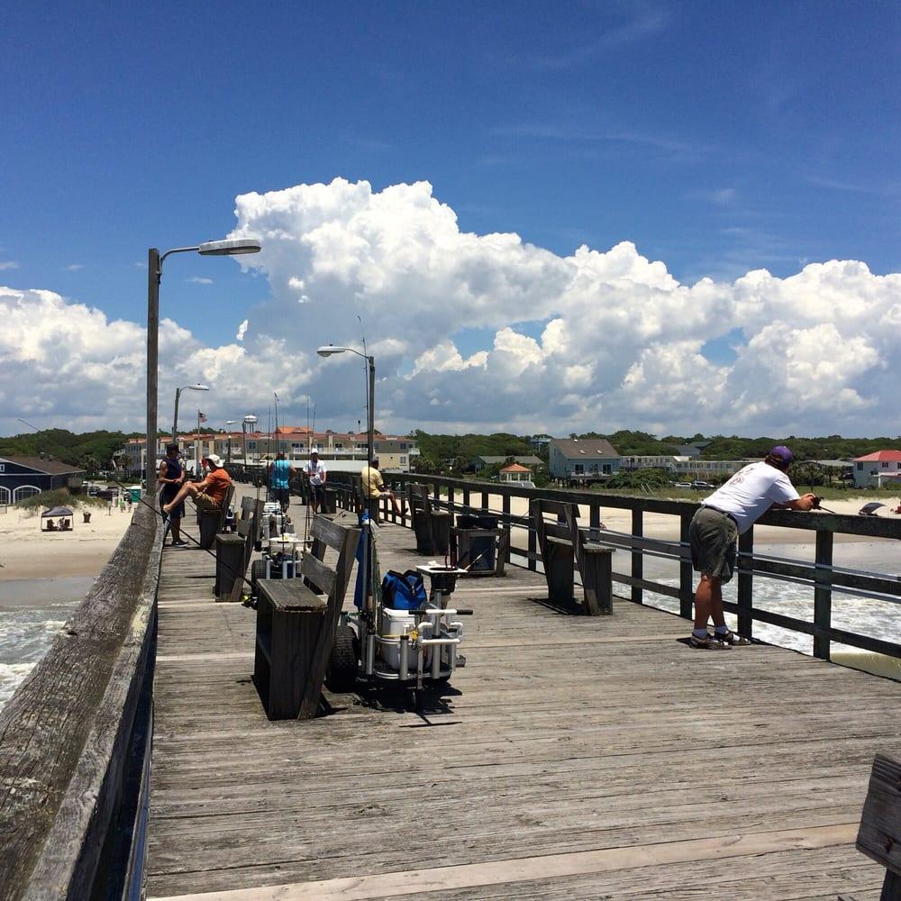 Yaupon beach fishing pier fishing oak island nc for Fishing piers near me
