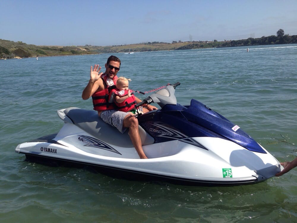 Does it get better than riding a waverunner with your baby girl ...