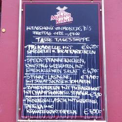 Tageskarte Brauhaus Pütz - Köln