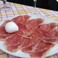 Prosciutto and buffalo mozzarella
