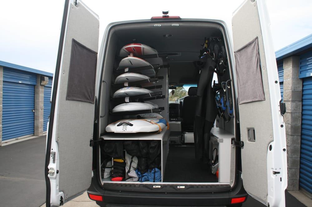 Wind Surfing Sprinter Van Custom Made Board Racks Interior And Cabinets Yelp