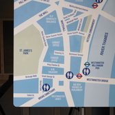Public bathrooms map for the Westminister area.