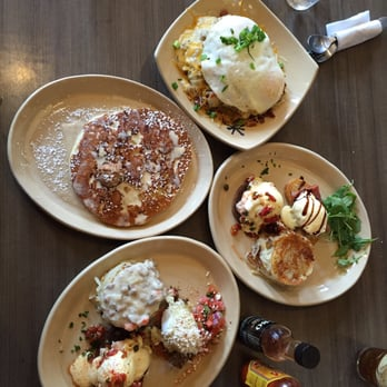 ... Pineapple Upside Down pancake, a variety of Benedicts, and the Snooze