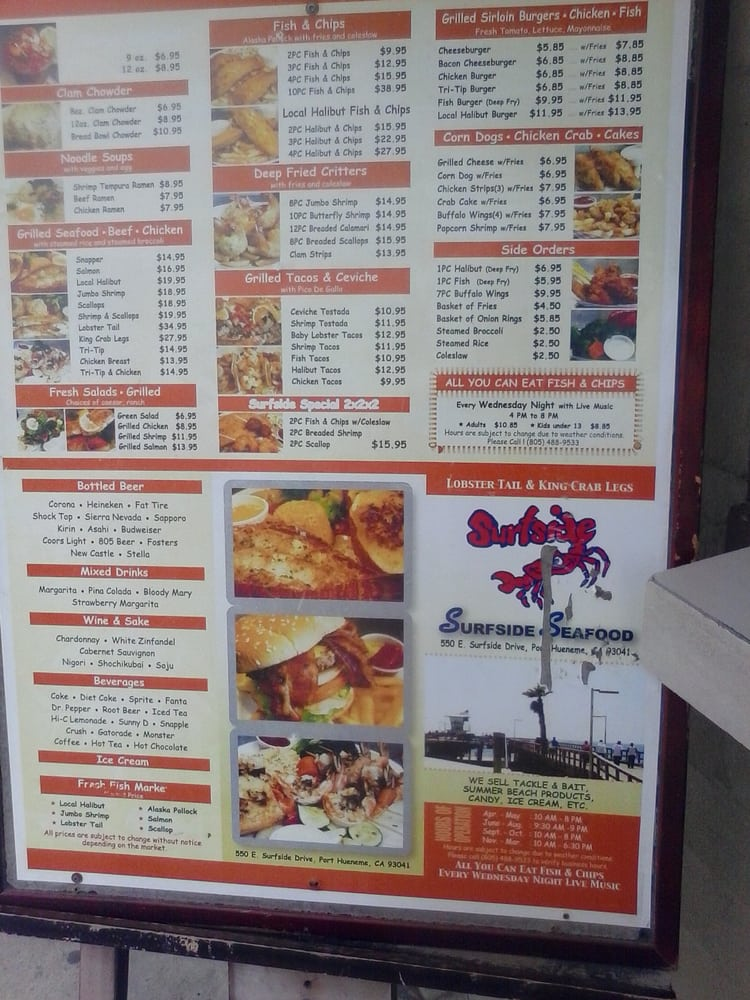 Surfside seafood 59 photos fish chips port hueneme for Fish and shrimp near me