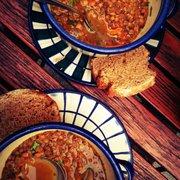 The vegan homemade lentil soup is to die…
