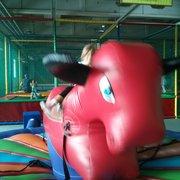 Nahkampf mit dem Gummi-Tier