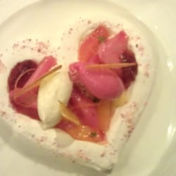 Meringue with rhubarb - beautiful!