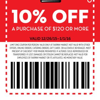 Fairway discount coupon