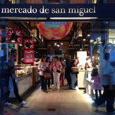 Lively atmosphere for foodies. Many kiosks offer a large variety of beloved Spanish foods.