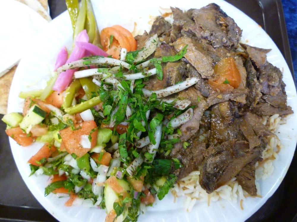 Beef Shawarma Platter Beef-lamb Shawarma Plate