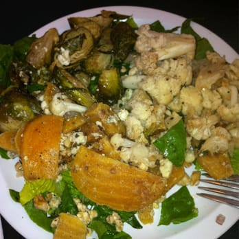 ... States. Trio salad wi golden beet, brussel sprouts and cauliflower