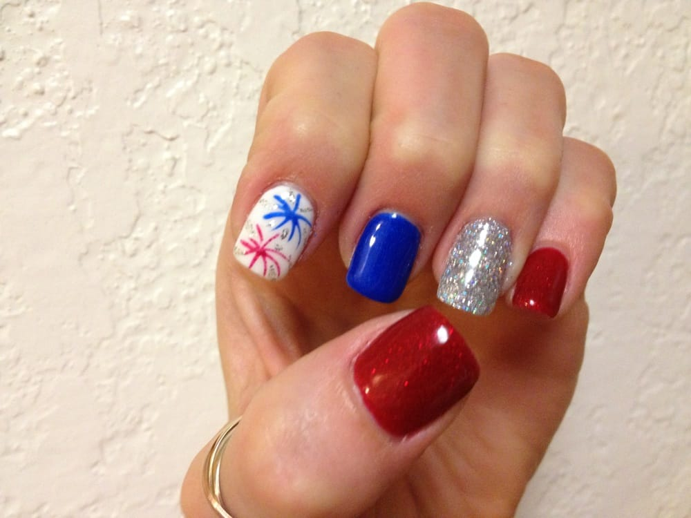 4th of July gel manicure. Thank you Last Long Nails team! | Yelp
