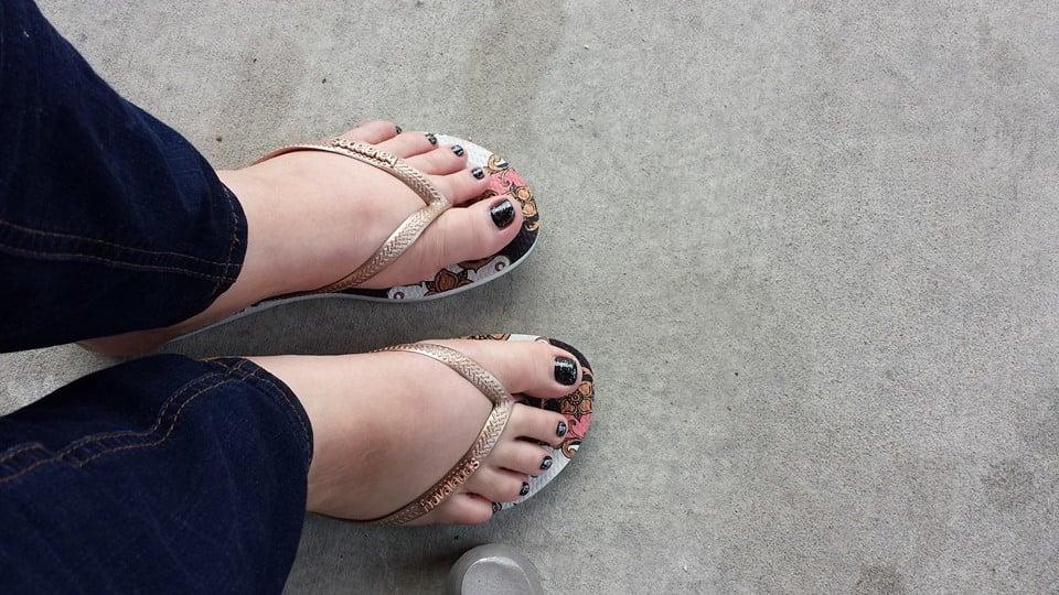 Black Nail Polish Pedicure Black Nail Polish