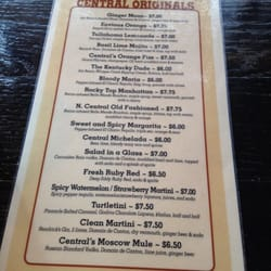 Central Flats and Taps - Special drink menu - Knoxville, TN, Vereinigte Staaten