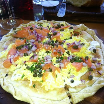 ... Commons - Washington, DC, United States. Salmon and lox flatbread