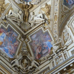 A chapel's ceiling
