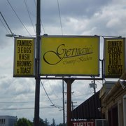 Germaine's Country Kitchen - Burien, WA, États-Unis. Sign from the street