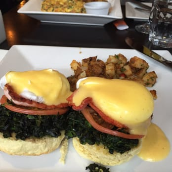 ... States. This was delicious Eggs Benedict with spinach and Irish bacon