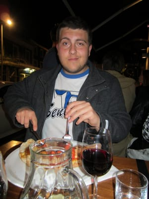 Blade a few years later at his favorite restaurant in London! Calzone!