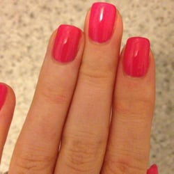 York, NY, United States. Shellac manicure in