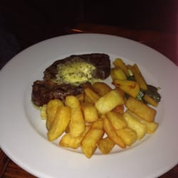 Ribeye and triple cooked duck fat chips