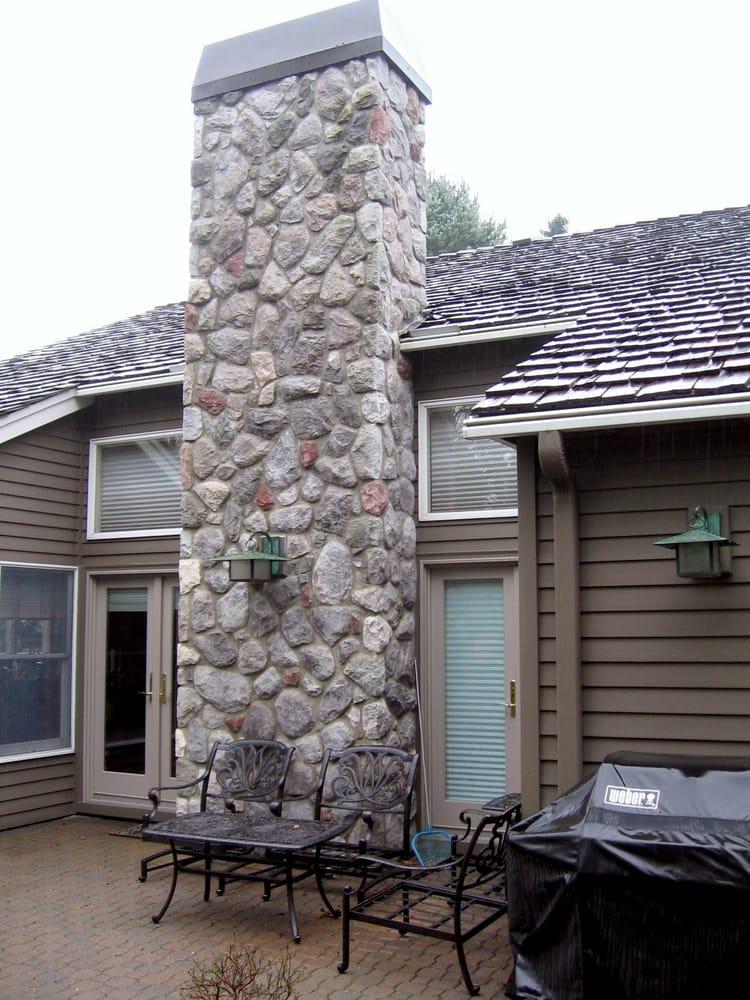 Rebuilt Cultured Stone Chimney Lake Oswego Or Yelp