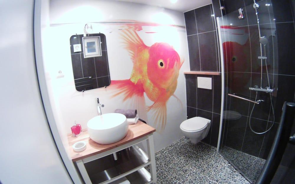 Une salle de bain originale avec douche l 39 italienne yelp for Douche italienne originale