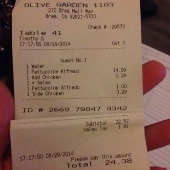 Olive Garden Italian Restaurant Brea Ca Yelp