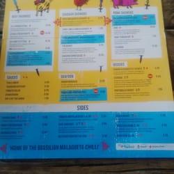 Bottom of menu