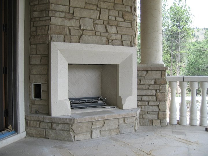 Bistro Cast Stone Fireplace Surround In Denver Colorado Yelp