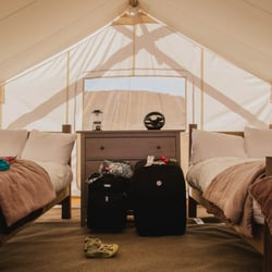 Moab Under Canvas - inside our tent - Moab, UT, Vereinigte Staaten
